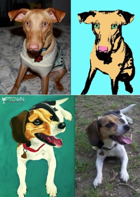 Paint Your Pet, Your Choice at uptown paint and sip painting classes in Jupiter FL