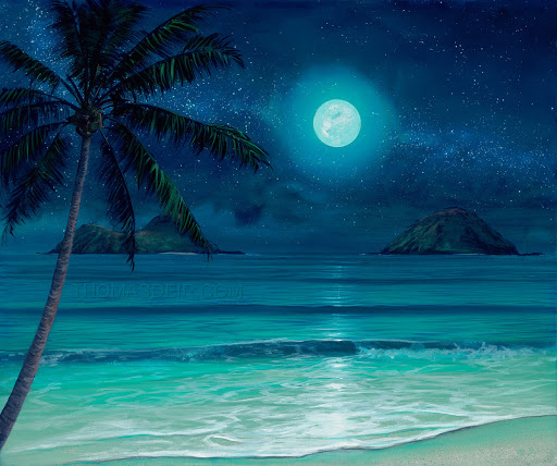 Full Moon Set from uptown paint and sip painting classes in Jupiter FL