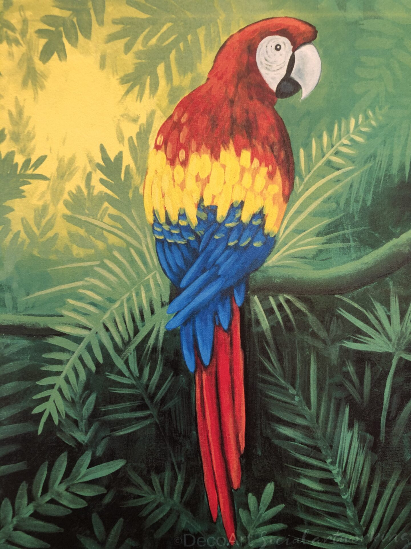 Mr. McCaw from uptown paint and sip painting classes in Jupiter FL