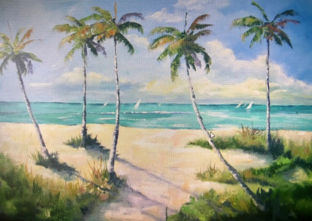 life at the beach from uptown paint and sip painting classes in Jupiter FL
